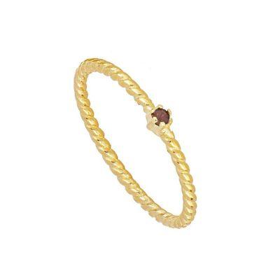 anillo dorado con opalo