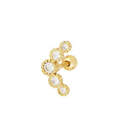 piercing de oro helix