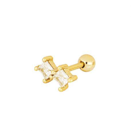 piercing de oro circonitas