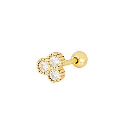 piercing de mujer oro circonitas