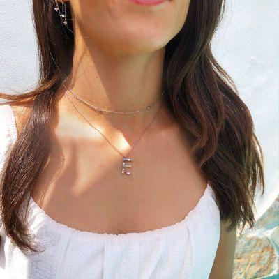 Collar Letra Plata