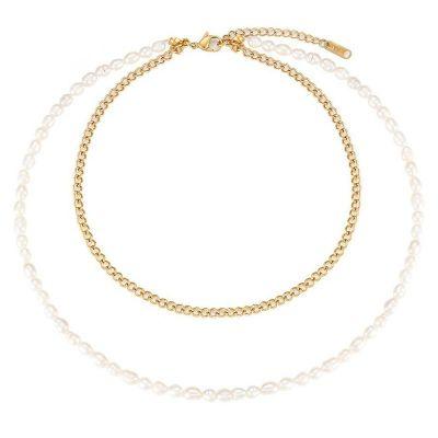 collar de perlas acero