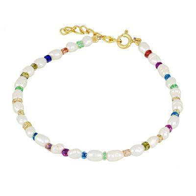 pulsera de perlitas colores