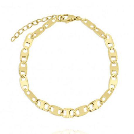 pulsera dorada mujer