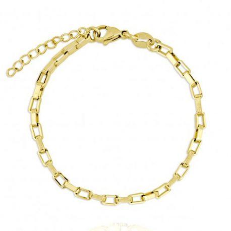 pulsera dorada para mujer