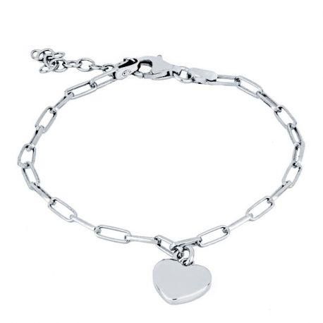 pulsera de plata con corazon