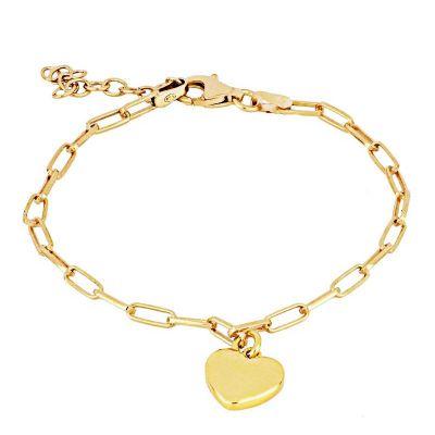 pulsera dorada con corazon