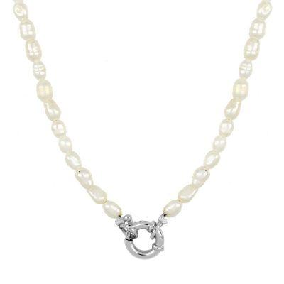 collar con perlas para mujer
