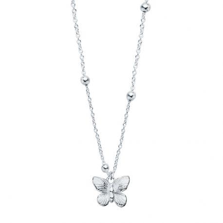 collar de plata mariposa