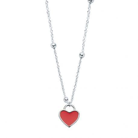 cadena de bolas con corazon