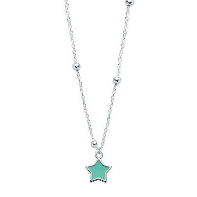 Collar Blue Star Bolitas