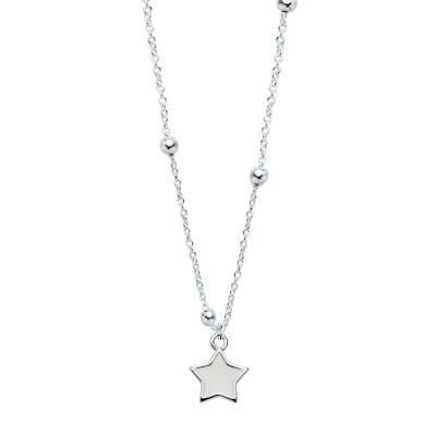 Collar White Star Bolitas