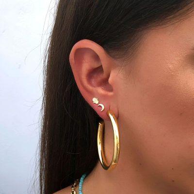 aros de mujer grandes dorados