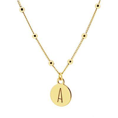 collar personalizable de oro