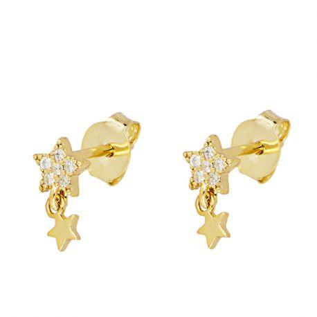 mini pendientes oro estrellas