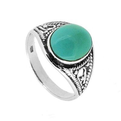 anillo boho turquesa